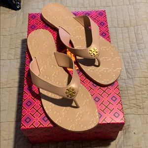 Never worn! Tory Burch Monroe leather sandals